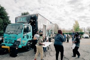 Hope Vibes nonprofit Hope Tank out in community