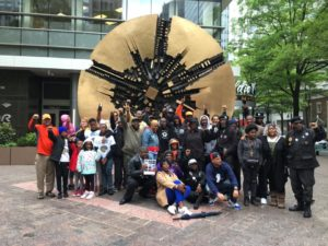 Project BOLT group photo outside in Uptown Charlotte, NC